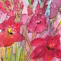 Blooming Glads by Donna Cary