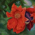 Blooming Poms by Marna Edwards Flavell