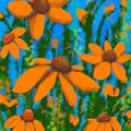 Blooms Of Orange by Kathleen Hromada