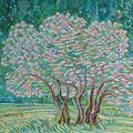 Bloomy Trees by Xanthie Zervou