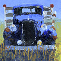 Blue 1936 Ford Flatbed Truck by David King