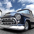 Blue 57 Stepside Chevy by Gill Billington
