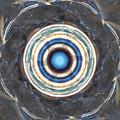 Blue Abalone Sphere by Kim Sy Ok