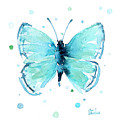 Blue Abstract Butterfly by Olga Shvartsur