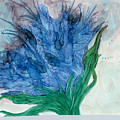 Blue Abstract  by Debora Boudreau