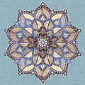 Blue And White Mandala by Lita Kelley