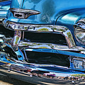 Blue And Chrome Chevy Pickup Front End by Randy Harris