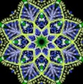 Blue And Green Flower Mandala by Michael African Visions
