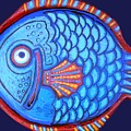 Blue And Red Fish by Genevieve Esson
