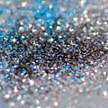 Blue And Silver Sparkles by Angela Murdock