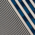 Blue And White Diagonals by Keith Allen