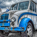 Blue And White Divco by Guy Whiteley