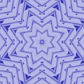 Blue And White Fractal Star by Ruth Moratz