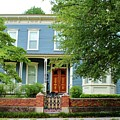 Blue And White House by Cynthia Guinn