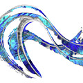 Blue And White Painting - Wave 2 - Sharon Cummings by Sharon Cummings