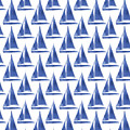 Blue And White Sailboats Pattern- Art By Linda Woods by Linda Woods