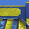 Blue And Yellow Shadows by Claudia O'Brien