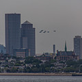 Blue Angels Boston Flyover by Brian MacLean