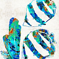 Blue Angels Fish Art By Sharon Cummings by Sharon Cummings
