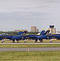 Blue Angels Flight Line by Alan Hutchins