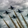 Blue Angels In Formation by Stuart Rosenthal