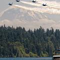 Blue Angels Over Lake Washington by John Driscoll