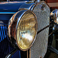 Blue Antique Auto by Nora Martinez