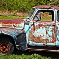 Blue Antique Chevy Truck- Fine Art by KayeCee Spain