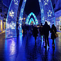 Blue Archways Of London by Paige Mitchell