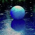 Blue Ball 4 by Alida M Haslett