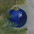 Blue Ball On Christmas Tree by Kristine Kainer