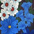 Blue Bell Flowers by Altin Rizi
