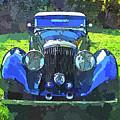 Blue Bentley Pop Art by David King