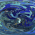 Blue Bird Abstract by Tom Janca