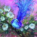 Blue Bird Christmas Wish by Nancy Medina