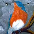 Blue Bird On Slate by Gino Didio