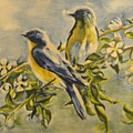 Blue Birds by Ghada Ibrahim