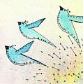 Blue Birds In Flight by Breanna Jacobs