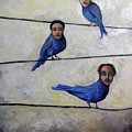 Blue Birds by Leah Saulnier The Painting Maniac