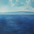 Blue Blue Sky Over The Sea  by Lin Petershagen