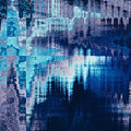 blue blurred abstract background texture with horizontal stripes. glitches, distortion on the screen broadcast digital TV satellite channels by Oksana Ariskina