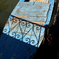 Blue Boat In Venice With Shadow by Michael Henderson