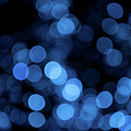 Blue Bokeh Blur by Helen Northcott