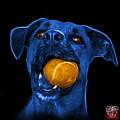 Blue Boxer Mix Dog Art - 8173 - Bb by James Ahn