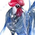 Blue Bresse Rooster by Dawn Derman