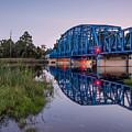 Blue Bridge Over The St. Marys River Kingsland, Georgia by Dawna Moore Photography