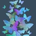 Blue Butterfly Flutter by Alondra Hanley