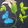 Blue Butterfly by Martha Mullins