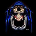 Blue Caped Skull by Rafael Salazar