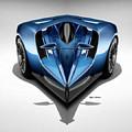 Blue Car 002 by Rafael Salazar